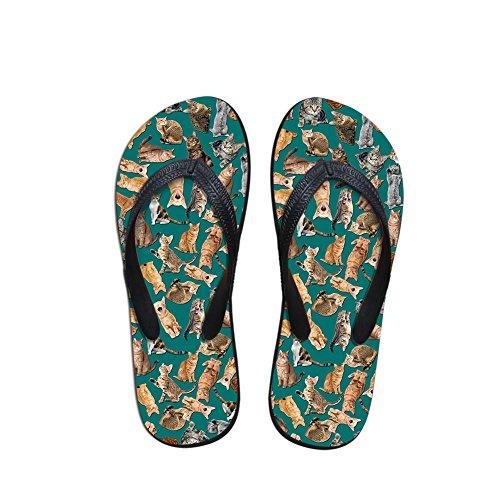 Pool cats Women¡¯s Stylish Beach Teen Flip Nopersonality V Girls Slipper Flops Pet Shoes 2 Zqx7fRCwRv