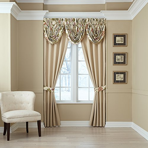 CROSCILL Daphne Pole Top Drapery Panels, Ivory, 4 Piece