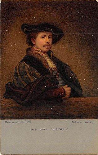 Rembrandt (1607 - 1669) His Own Portrait Famous People Postcard