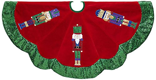 Kurt S. Adler 48 Velvet Nutcracker Tree Skirt