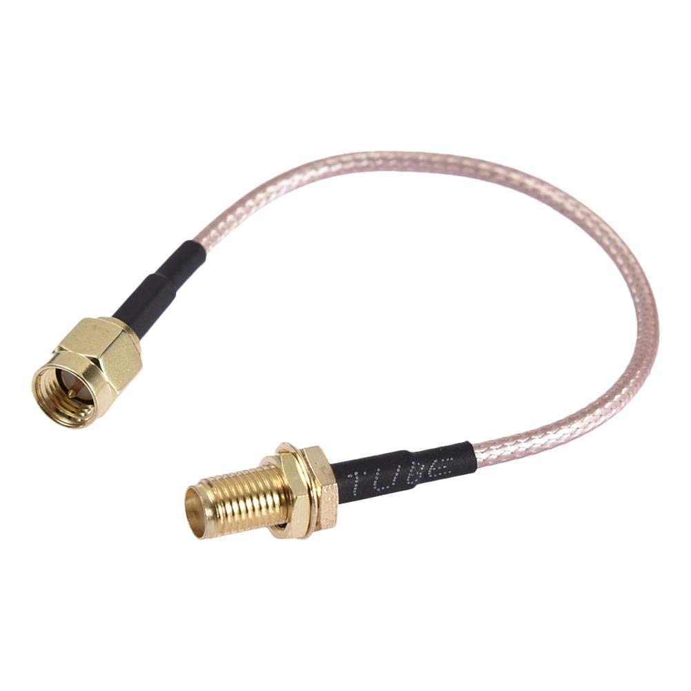 ZHITING 2pz 90mm FPV Prolunga antenna SMA Femmina a SMA Adattatore antenne maschio (Prolunga antenna interna ago needle