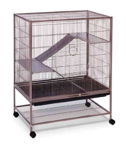Prevue Pet Products Rat and Chinchilla Cage 495 Earthtone Dusted Rose, 31-Inch by 20-1/2-Inch by (Pet Chinchilla Rat)