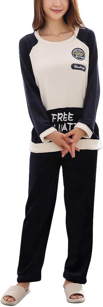 Pijamas De Pareja Engrosamiento Cálido Franela Hombres Y ...