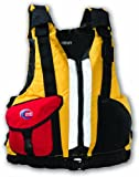 MTI Adventurewear Big Buoy High Bouyancy PFD Life Jacket (Cyber Yellow/Red, XSmall/Small)
