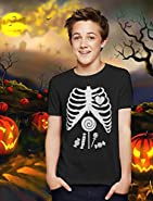 TeeStars - Children Skeleton Candy Rib-cage X-Ray Halloween Funny Kids T-Shirt