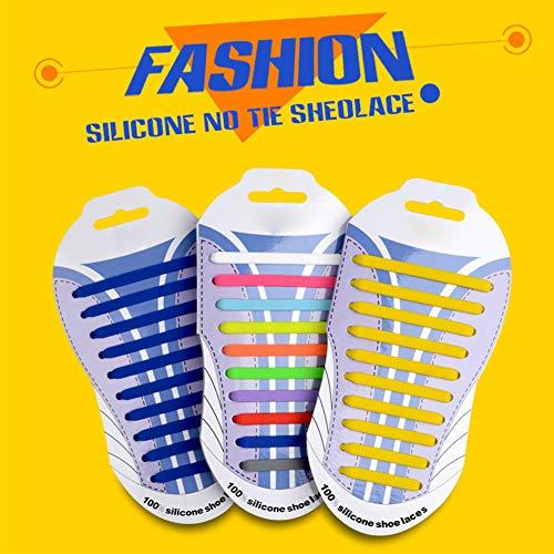 Adultos Fácil Tabla Sin Y Niños Silicona Leezo Bloquear Cordones Casuales De Elásticos Unisex Impermeable Limpiar Corbata Divertido Zapatos Para qOWARw