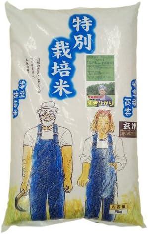 31年産新米 北海道産 農薬化学肥料不使用ゆきひかり 玄米5kg 【数量限定品】