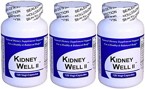 Kidney Well II (120 Capsules) 3 PACK, Full Spectrum, Concentrated Herbal Extract Blend, All Natural Dietary Supplement with No Fillers, Binders or Synthetic Ingredients