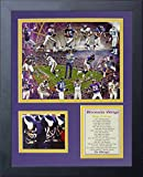 Legends Never Die Minnesota Vikings Greats Framed Photo Collage, 11 by 14-Inch