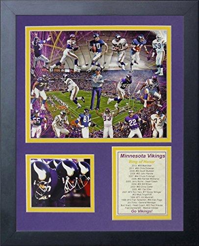 Minnesota Vikings Legends - Legends Never Die Minnesota Vikings Greats Framed Photo Collage, 11 by 14-Inch