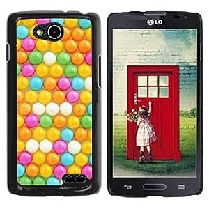 Be Good Phone Accessory // Dura Cáscara cubierta Protectora Caso Carcasa Funda de Protección para LG OPTIMUS L90 / D415 // Kids Yellow Teal Pink Round
