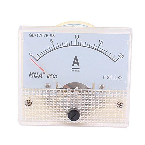 uxcell 85C1 Analog Current Panel Meter DC 0-20A Ammeter Gauge