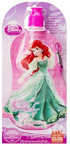 Zak Designs Disney Princess Collapsible Water Bottle by Zak Designs, 15-Ounce