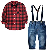 Baby Boy's Clothes, Long Sleeves Flannel Plaids