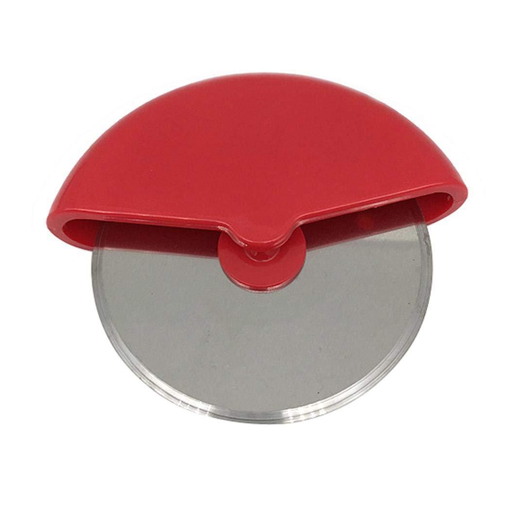 Yagot Edelstahl Gebäck Pizzaschneider Küchenwerkzeug Pizza Rad Messer Hob Graters (Rot)
