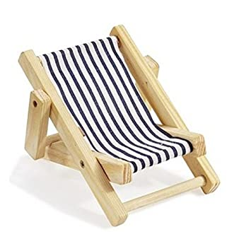 hbf mini transat en bois bleu et blanc 5 cm x 35 cm - Transat En Bois