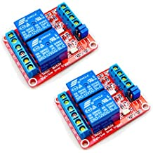 HiLetgo 2pcs DC 12V 2 Channel Relay Module with Isolated Optocoupler High and Low Level H/L Level Trigger Module Triggered by DC 12V