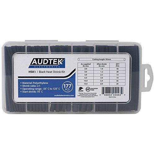 Audtek Electronics HSK1 Black Heat Shrink Kit 177 Pieces