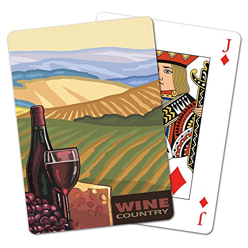 Deck of Playing Cards, 2.5 x 0.8 x 3.5 Inches, Wine Country (CD15370) ()