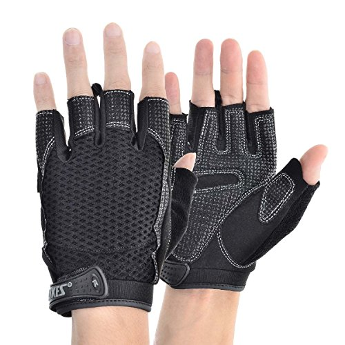 KAMO Ultralight Anti-slip Breathable Gloves for Gymnastics,Kayaking,Paddling,Sailing,Weight Lifting,Training,Fitness£¬Bodybuilding and Outdoor Anti-slip Cycling Gloves Men & Women(Black,XL) by KAMO