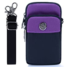 liangdongshop Casual Style 5.8 Inch Multi-Function Waist Pack Cell Phone Bag Crossbody Pouch with Carabiner & Belt Fastener & Shoulder Strap
