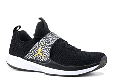 detailed look f5c05 99cd5 Jordan Trainer 2 Flyknit Chaussures de Fitness Homme, Multicolore  (Black Metallic Gold 021