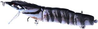 11cm / 16,7 g Pêche colorée Queue fourchue Lure Vives en Plastique Multi-Joints Pêche Swimbaits Regard