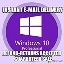 MS Genuien Windows 10 Pro Professional 32/ 64bit Installation License Key Product Code | Download Link | Instan Email Delivery 5 Minute