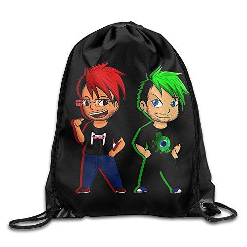 Markiplier And Jacksepticeye Travel Sport Bag Drawstring Backpack/Rucksack