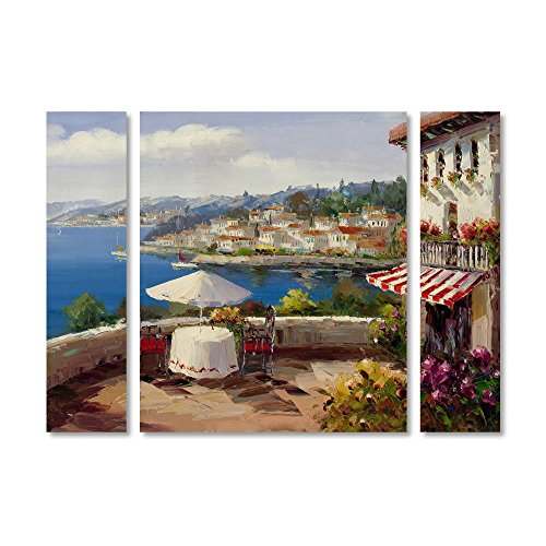 Trademark Fine Art MA0342-3PC-SET-SM Italian Afternoon by Rio, Small,