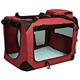 Pet Dog Carrier Portable House Soft Sided Cat Comfort Travel Tote Bag (32x23x23 Inches, Wine) Review