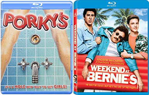 Weekend At Bernie's + Porky's ... Blu Ray Fun Comedy 80's movie Set