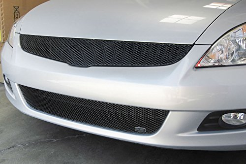 GrillCraft HON1140B MX Series Black Upper 1pc Mesh Grill Grille Insert for Honda Accord Grillcraft Mx Series Bumper