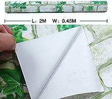 HANMERO® papel pintado autoadhesivo imitación ladrillo PVC papel ...