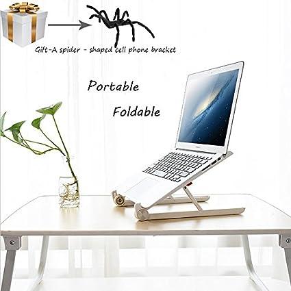 Plegable portátil ajustable soporte para portátil soporte para MacBook/Chromebook/Dell/Samsung/