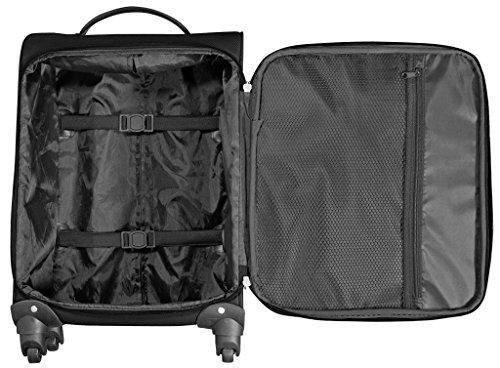 Stoff Koffer Reiseset 5tlg Farbe Petrol schwarz Trolley Tasche Case Fa. Bowatex