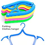 5 pcs/Lot Folding clothes hanger clothes Hook Color cabides clothes rack Travel accessories hook