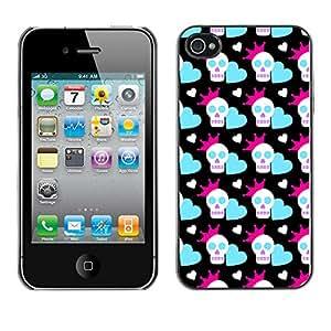 ZECASE Funda Carcasa Tapa Case Cover Para Apple iPhone 4 / 4S No.0002327
