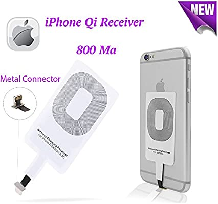 Smart Electronic Solutions Wireless Charger Charging Receiver for iPhone 6/6S/6 Plus/6S Plus/5/5S/5C Improved Qi Adapter Coil Patch Module Ultra Slim ...