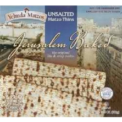 Yehuda UnSalted Matzo Thins, 10.5 Ounce -- 24 per case