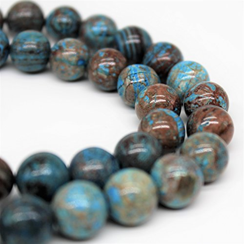 - Crazy Blue Lace Agate Gemstone Loose Beads 8mm 46 Beads Per 15.5
