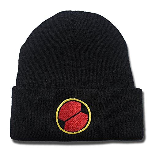[HAISHEN MegaMan EXE Navi Mark Logo Beanie Fashion Unisex Embroidery Beanies Skullies Knitted Hats Skull] (Megaman Hat)