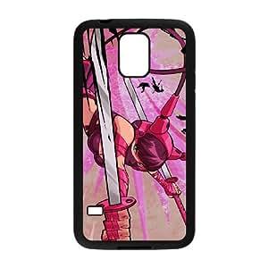 pink sword girl Samsung Galaxy S5 Cell Phone Case Black xlb2-283801