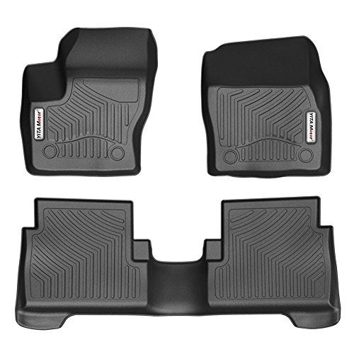 YITAMOTOR Car Floor Mats Compatible for 2015-2019 Ford Escape, Front & Rear 2 Rows Heavy Duty Rubber Custom Fit Floor Liners