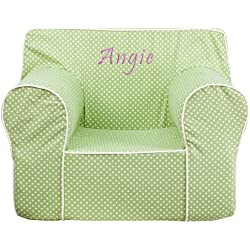 Personalized Kids Club Chair Color: Green
