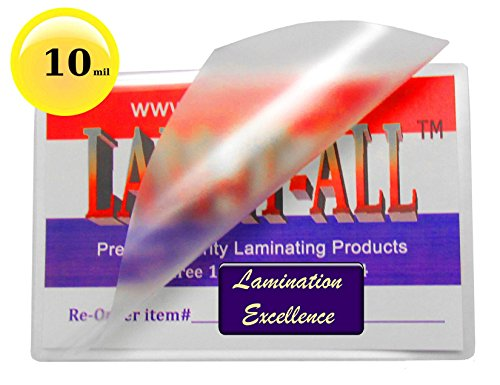 10 Mil Hot Legal Laminating Pouches 9 X 14-1/2 [Pack of 50] by LAM-IT-ALL by LAM-IT-ALL
