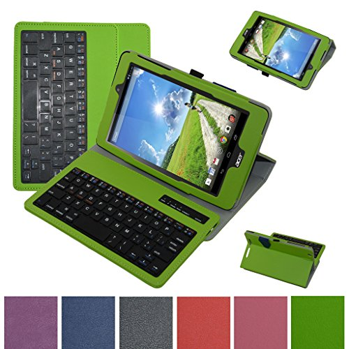 Acer B1-810 / A1-850 Bluetooth Keyboard Case,Mama Mouth Coustom Design Slim Stand PU Leather Cover With Romovable Bluetooth Keyboard For 8