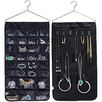 Amazoncom Misslo Jewelry Hanging Nonwoven Organizer Closet Door