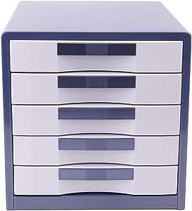 خزائن للملفات مع 5 أدراج مغلقة، خزانة ملفات قابلة للقفل، 5 طبقات A4 مكتب لتصنيف الملفات المكتبية، خزانة تخزين ملفات ملفات لمستندات المكاتب، لون أزرق