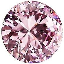 CSKB 6 PCS 30mm Pink Diamond Crystal Glass Door Knobs Drawer Cupboard Kitchen Handle Bedrooms Chest Hardware + Screw